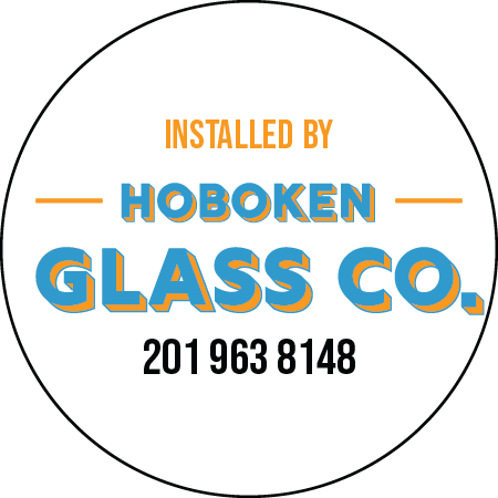 Hoboken Glass Company Circle Sticker ALL TYPES OF GLASS INSTALLED